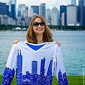 """Одежда ручной работы. Ярмарка Мастеров - ручная работа Свитер """"Чикаго"""". Handmade."""