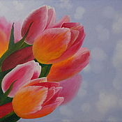 Картины и панно handmade. Livemaster - original item Tulips (oil painting). Handmade.