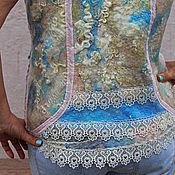 """Одежда ручной работы. Ярмарка Мастеров - ручная работа Жилет валяный """"Море нежностей"""". Handmade."""