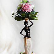 Подарки к праздникам ручной работы. Ярмарка Мастеров - ручная работа Статуэтка с белыми розами. Handmade.