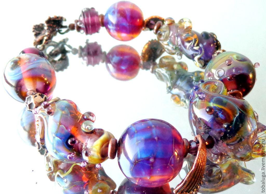 Bracelet Lilac whim, Bead bracelet, St. Petersburg,  Фото №1