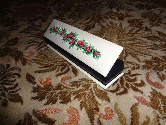 """Подарочная упаковка ручной работы. Ярмарка Мастеров - ручная работа. Купить шкатулка для браслета.""""Плетистая роза"""". Handmade. Шкатулка для украшений"""