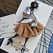 """Украшения ручной работы. Ярмарка Мастеров - ручная работа комплект:брошь """"Глория"""",платок. Handmade."""