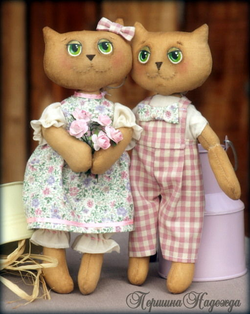 Ароматизированные куклы ручной работы. Ярмарка Мастеров - ручная работа. Купить Весенние влюблённые. Handmade. Котики, кот, ручная работа