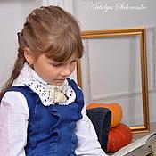 Работы для детей, ручной работы. Ярмарка Мастеров - ручная работа Платье детское войлочноеГимназистка. Handmade.