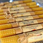 Сувениры и подарки handmade. Livemaster - original item Rolled Beeswax Candles with herbs. Handmade.