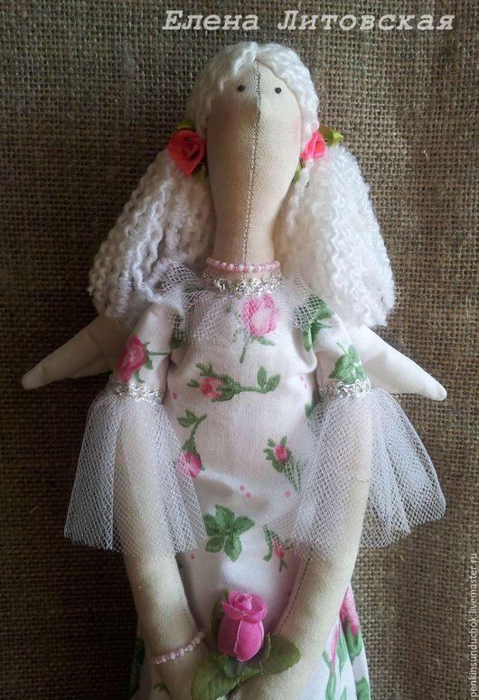 Куклы Тильды ручной работы. Ярмарка Мастеров - ручная работа. Купить Розовый ангел,  тильда - хранительница ватных дисков.. Handmade.
