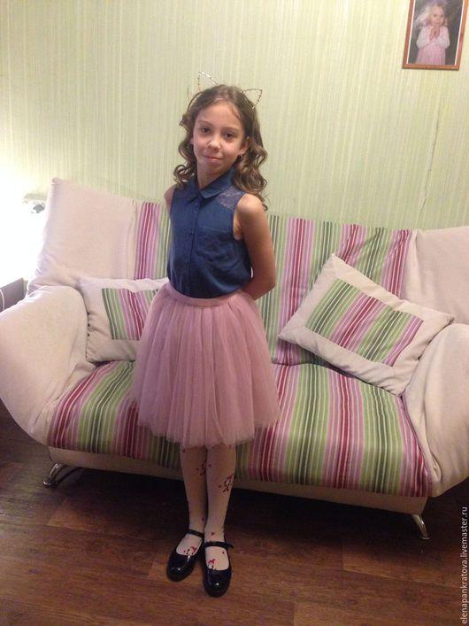 Одежда для девочек, ручной работы. Ярмарка Мастеров - ручная работа. Купить детская юбка. Handmade. Бежевый, юбка для девочки