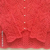 Одежда handmade. Livemaster - original item Set women`s coral and pearls, Japanese openwork, 100% cotton. Handmade.