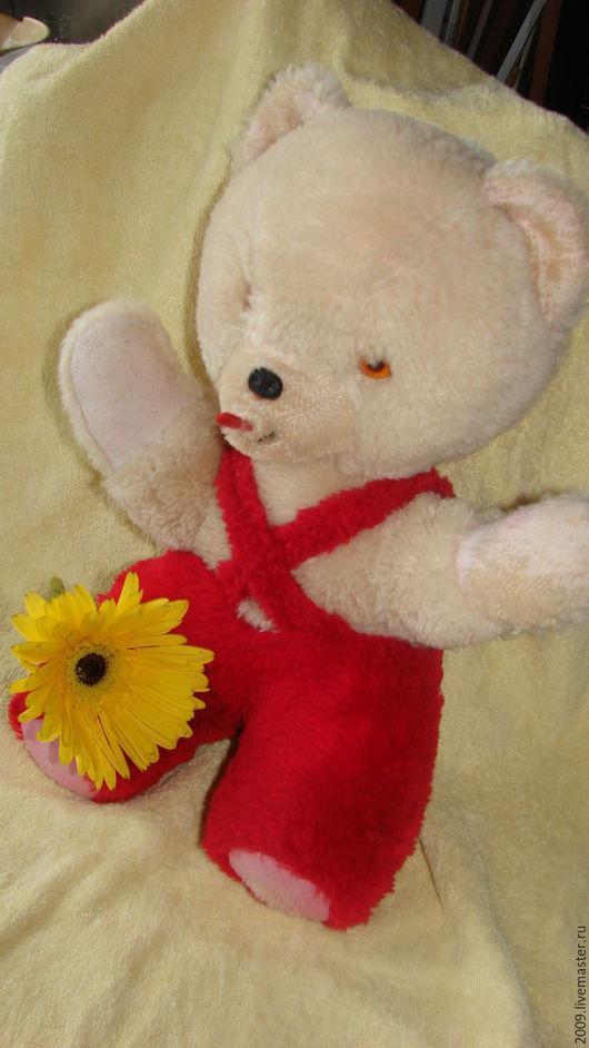 Винтажные куклы и игрушки. Ярмарка Мастеров - ручная работа. Купить Винтажный медведь  70-80годы полная реставрация. Handmade.
