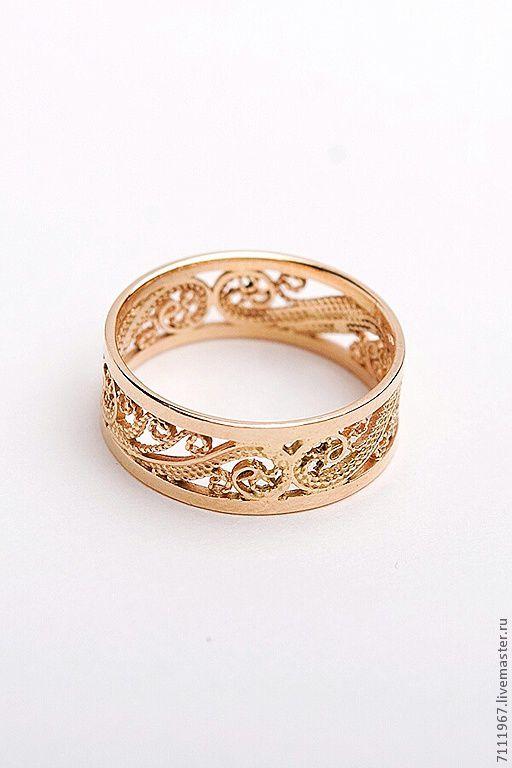 кольца ручной работы из золота