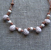 Украшения handmade. Livemaster - original item Ceramic necklace