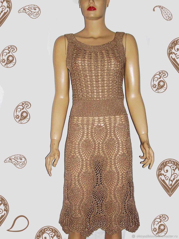 c945046c270d Knit dress crochet copy Escada – shop online on Livemaster with ...