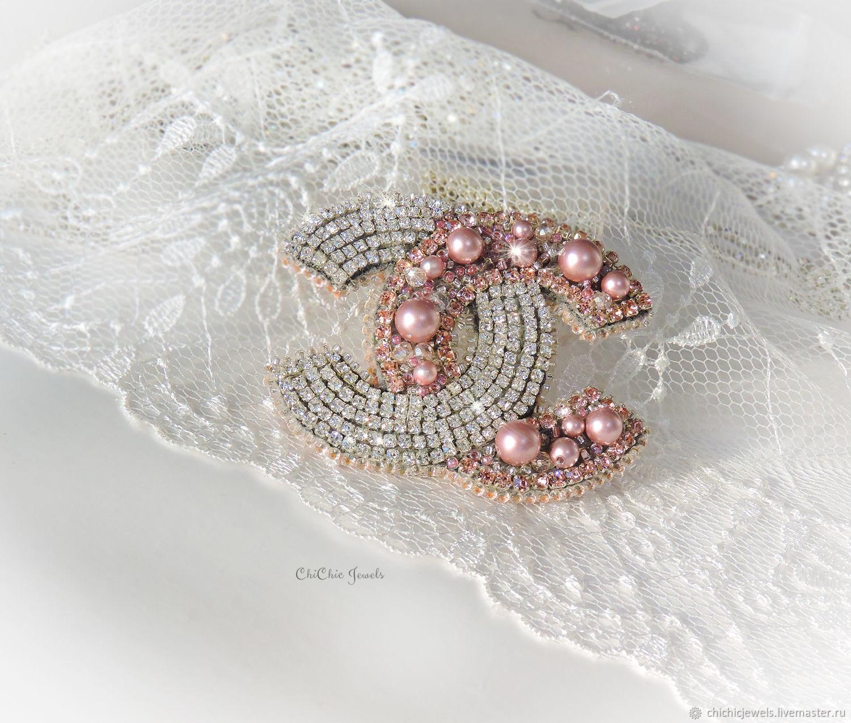 CC brooch Брошь Шанель, брошь на платье, Брошь-булавка, Находка,  Фото №1