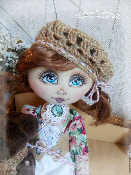Коллекционные куклы ручной работы. Ярмарка Мастеров - ручная работа. Купить Кукла интерьерная Тонечка. Handmade. Коричневый, кукла для души
