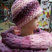 Аксессуары ручной работы. Ярмарка Мастеров - ручная работа комплект шапка и шарф. Handmade.