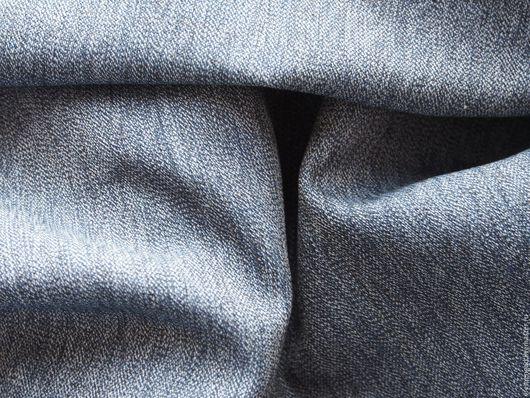 Шитье ручной работы. Ярмарка Мастеров - ручная работа. Купить Костюмная ткань с внешнем эффектом джинсы. Винтаж.. Handmade. Серый