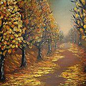 Картины и панно ручной работы. Ярмарка Мастеров - ручная работа Осенние пейзажи маслом. Handmade.