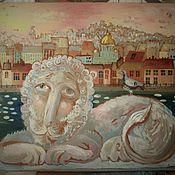 Картины и панно ручной работы. Ярмарка Мастеров - ручная работа Мечтательный лев. Handmade.