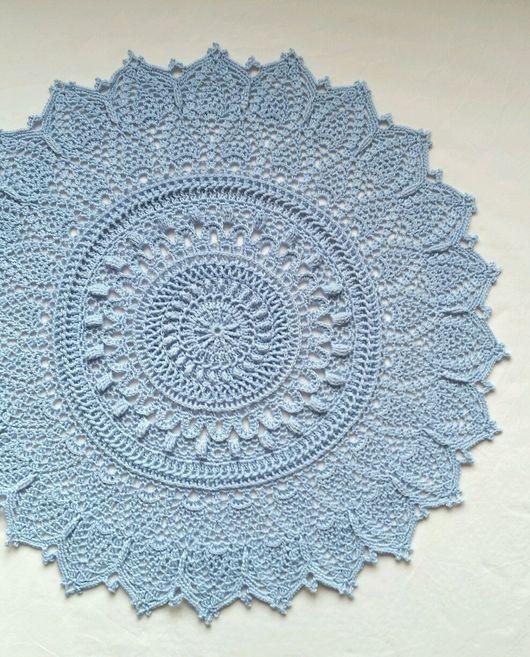 Текстиль, ковры ручной работы. Ярмарка Мастеров - ручная работа. Купить Салфетка крючком  голубая. Handmade. Салфетка, салфетка кружевная