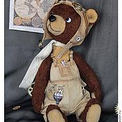 Куклы и игрушки ручной работы. Ярмарка Мастеров - ручная работа Тедди мишка George, пилот и механик. Handmade.