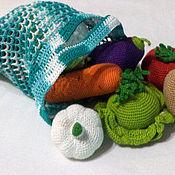 Кукольная еда ручной работы. Ярмарка Мастеров - ручная работа Вязаные крючком фрукты овощи. Handmade.