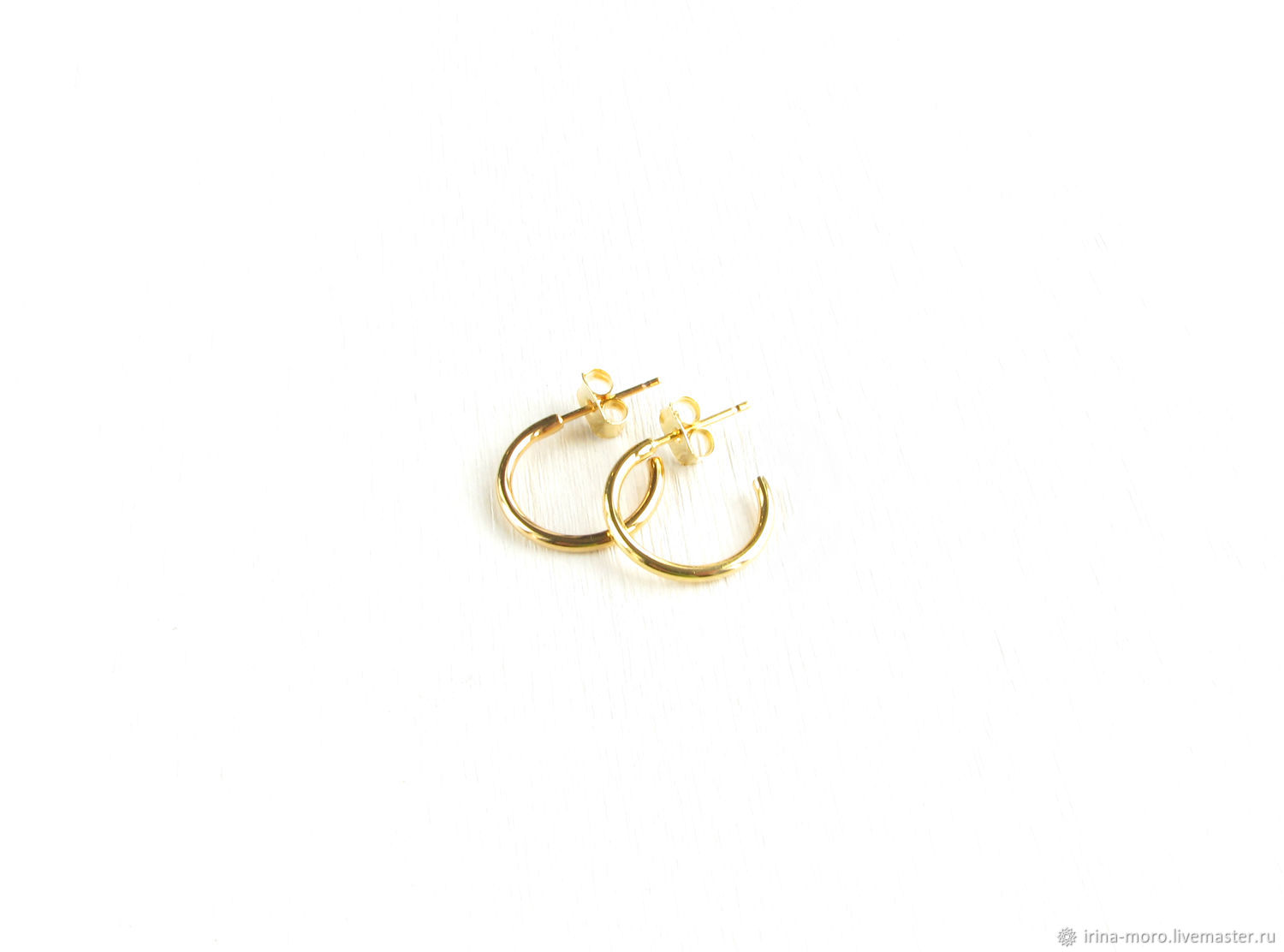 Small earrings rings'Rings' gold earrings rings, Earrings, Moscow,  Фото №1