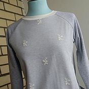 Одежда handmade. Livemaster - original item Sweatshirt the Gentle, lace, knit. Handmade.
