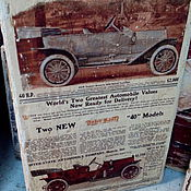 Картины и панно ручной работы. Ярмарка Мастеров - ручная работа Панно деревянное 20х30 состаренное Ретро-авто-2. Handmade.