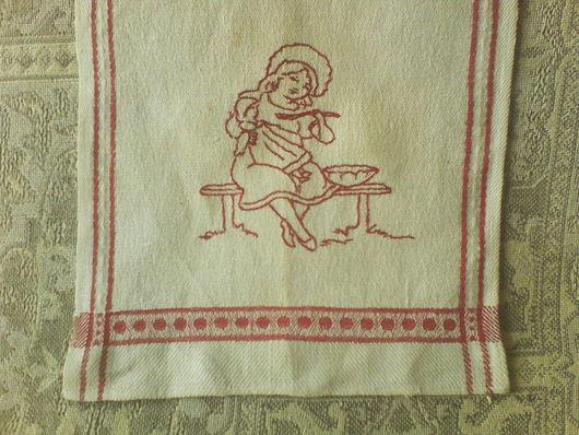 Одежда. Ярмарка Мастеров - ручная работа. Купить Старинная детская манишка - нагрудник с портретной вышивкой, редворк!!. Handmade. Манишка детская