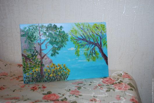 Пейзаж ручной работы. Ярмарка Мастеров - ручная работа. Купить картина маслом пейзаж. Handmade. Картина в подарок, картина маслом