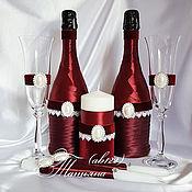Свадебный салон ручной работы. Ярмарка Мастеров - ручная работа Марсала-набор аксессуаров. Handmade.