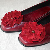 Украшения ручной работы. Ярмарка Мастеров - ручная работа Цветы - украшение на обувь. Handmade.