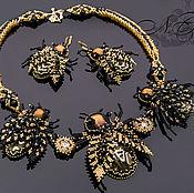 Украшения handmade. Livemaster - original item Necklace and earrings bee. Handmade.