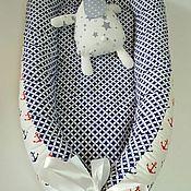 Работы для детей, ручной работы. Ярмарка Мастеров - ручная работа Гнездышко для новорожденного babynest. Handmade.