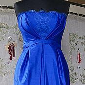 Одежда ручной работы. Ярмарка Мастеров - ручная работа Шелковое коктейльное платье. Handmade.