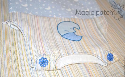 """Для новорожденных, ручной работы. Ярмарка Мастеров - ручная работа. Купить Спальный мешок для малыша """"Сони"""" голубой. Handmade. Голубой"""