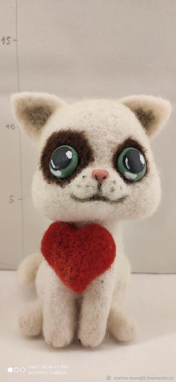 Кот сиамский, Войлочная игрушка, Тверь,  Фото №1