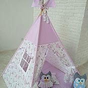 Подарок новорожденному ручной работы. Ярмарка Мастеров - ручная работа Вигвам- палатка для детей. Handmade.