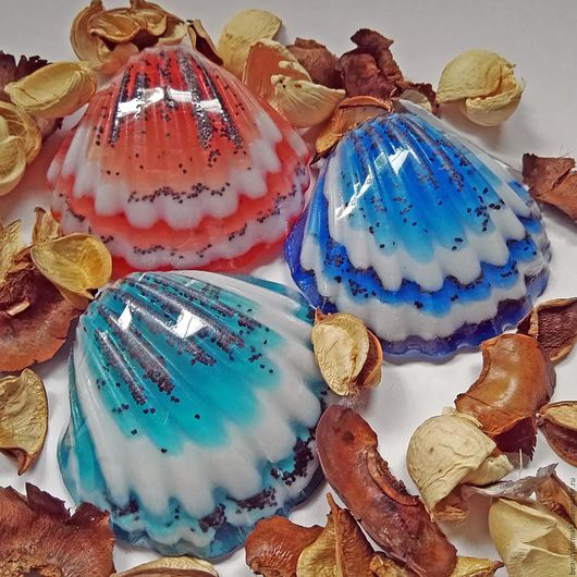 Мыло ручной работы. Ярмарка Мастеров - ручная работа. Купить мыло ракушка. Handmade. Комбинированный, сувениры и подарки, морская тематика