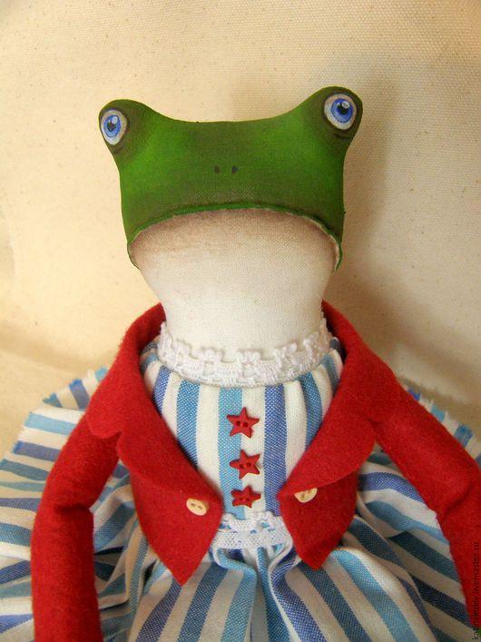 Игрушки животные, ручной работы. Ярмарка Мастеров - ручная работа. Купить Жаба. Текстильная интерьерная кукла.. Handmade. Ярко-красный