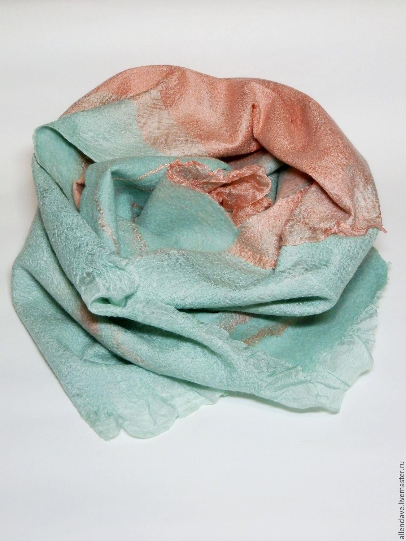 felted scarf I Want spring, Scarves, Barnaul,  Фото №1