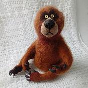 Куклы и игрушки handmade. Livemaster - original item Felted brown bear. Handmade.