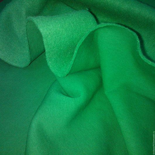 """Шитье ручной работы. Ярмарка Мастеров - ручная работа. Купить Футер  3-х нитка """"Зеленая трава"""" с начесом. Handmade."""