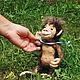 Игрушки животные, ручной работы. Ярмарка Мастеров - ручная работа. Купить Валяная игрушка обезьяна Мила. Handmade. Игрушка