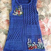 """Работы для детей, ручной работы. Ярмарка Мастеров - ручная работа Платье-сарафан """"Цветочная поляна"""". Handmade."""