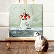 Картины и панно ручной работы. Ярмарка Мастеров - ручная работа Маленький миленький букетик. Handmade.