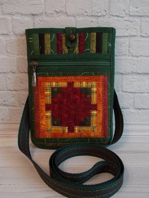 Bag-pocket, dainty, belt bag, green, ethno style, Crossbody bag, Novosibirsk,  Фото №1