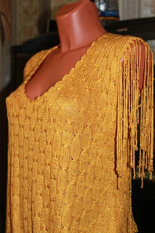 Вязание золотыми нитками 87