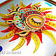 Order Glass panel on the wall, fusing 'Fish-the Sun'. Kalashlinsky. Livemaster. . Pictures Фото №3
